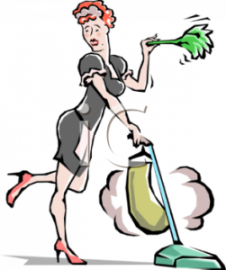 0511-1001-1122-5769_housekeeper_dusting_and_vacuuming_clipart_image